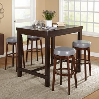 Simple Living Avenue Espresso Rubberwood 5-piece Pub Set|https://ak1.ostkcdn.com/images/products/11977509/P18859552.jpg?impolicy=medium