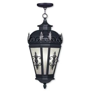 Livex Lighting Berkshire Bronze Brass 3-light Outdoor Chain Lantern