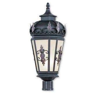 Livex Lighting Berkshire Bronze Brass 1-light Outdoor Post Lantern