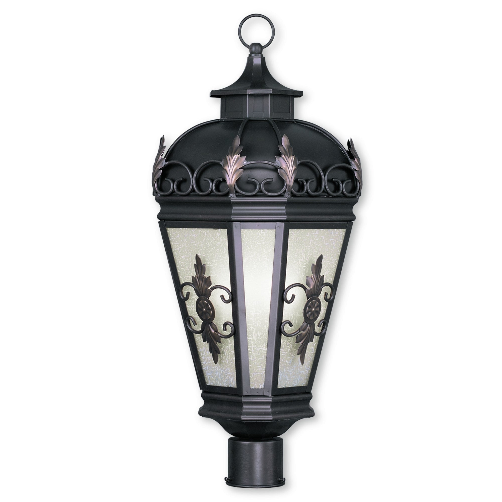 Livex Lighting Berkshire Bronze 3 Light Outdoor Post Lantern