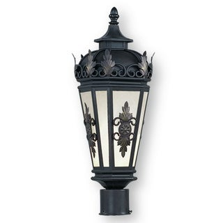 Livex Lighting Berkshire Bronze Brass One-light Outdoor Post Lantern