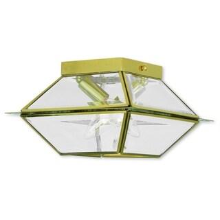 Livex Lighting Westover 2-light Polished Brass Outdoor/Indoor Ceiling Mount