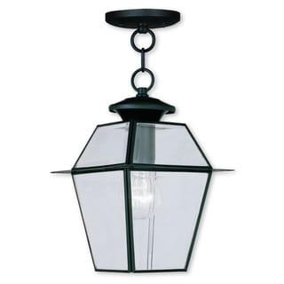 Livex Lighting Westover Black Brass Outdoor Chain Lantern