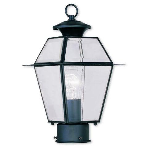 Livex Lighting Westover Black Outdoor Post Lantern