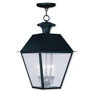 Livex Lighting Mansfield 4-light Black Outdoor Chain Lantern