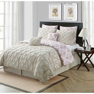 VCNY Heather 8-piece Reversible Comforter Set