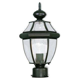 Livex Lighting Monterey 1-light Bronze Outdoor Post Lantern