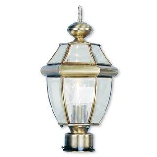 Livex Lighting Monterey Antique Brass Outdoor Post Lantern