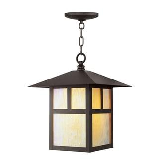 Livex Lighting Montclair Mission Bronze Brass Outdoor Chain Lantern