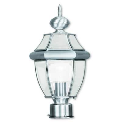 Livex Lighting Monterey Brushed Nickel Outdoor Post Lantern