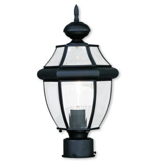 Livex Lighting Monterey Black Brass 1-light Outdoor Post Lantern