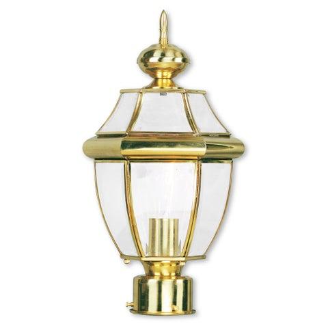 Livex Lighting Monterey Polished Brass Outdoor Post Lantern