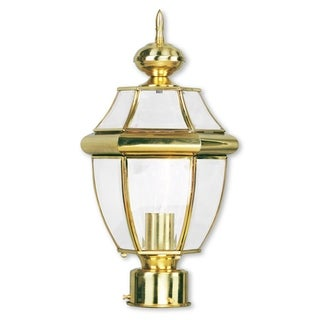 Livex Lighting Monterey Polished Brass Outdoor Post Lantern