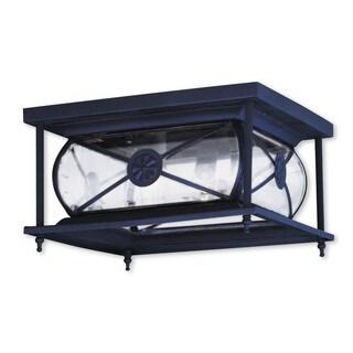 Livex Lighting Providence Bronze 2-light Outdoor Ceiling-mount Fixture