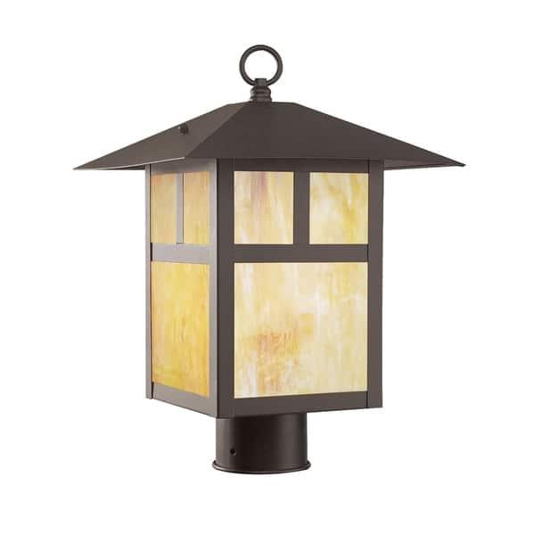 Livex Lighting Montclair Mission Bronze Outdoor Post Lantern
