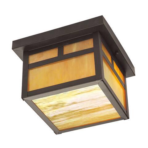 Livex Lighting Montclair Mission Bronze 2-light Outdoor Ceiling-mount Fixture