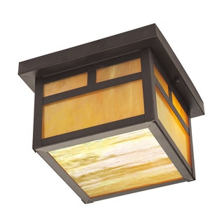 Livex Lighting Montclair Mission Bronze 2-light Outdoor Ceiling-mount Fixture