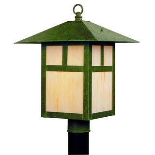 Livex Lighting Montclair Mission Verde Patina Brass 1-light Outdoor Post Lantern