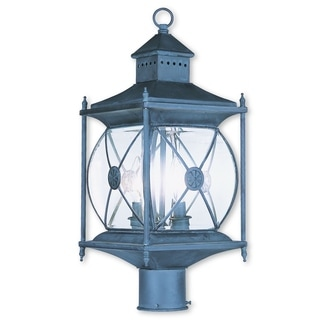 Livex Lighting Providence Charcoal 2-light Outdoor Post Lantern