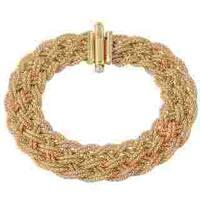 14K Yellow Gold Italian Mesh Stretch Bracelet