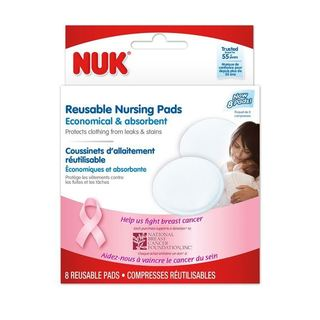 Nuk Reusable Nursing Plastic Pack of 8 Pads