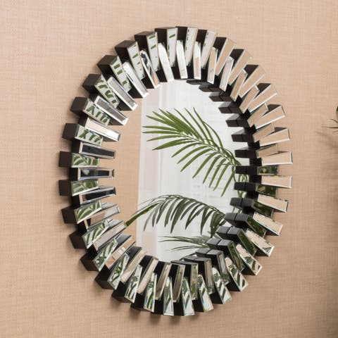 Cienega Round Wall Mirror by Christopher Knight Home - Clear