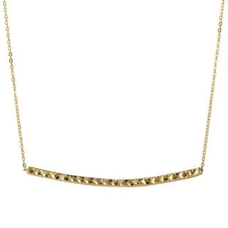 14k Yellow Gold Diamond Cut 18-inch Bar Rolo Adjustable Chain Necklace
