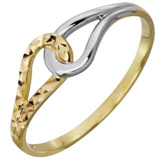 Ladie's 14k Tri-color Gold Link Ring (Size 7)