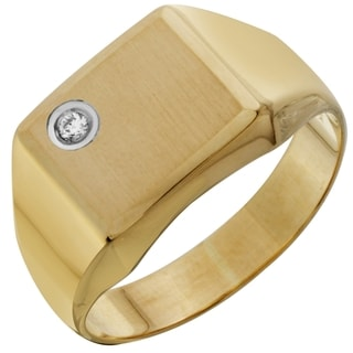 Men's 14k Yellow Gold Diamond Ring (Size 10)