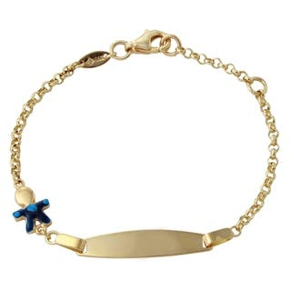 14k Yellow Gold 6-inch Boy Baby ID Enamel Bracelet|https://ak1.ostkcdn.com/images/products/11977772/P18859736.jpg?impolicy=medium