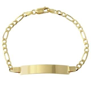 14k Yellow Gold Women's 3.7-millimeter 7-inch ID Bracelet