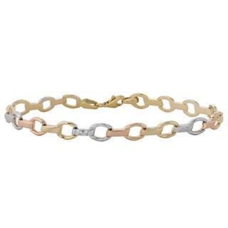 14k Tri-color Gold Stampato Bracelet