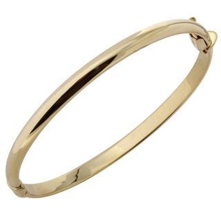 10k Yellow Gold 2.5-inch 5-millimeter Polished Dome Bangle Bracelet