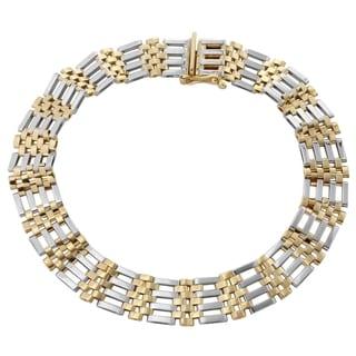 Men's 14k Two-tone Gold 8.25-inch 9.4-millimeter Bracelet