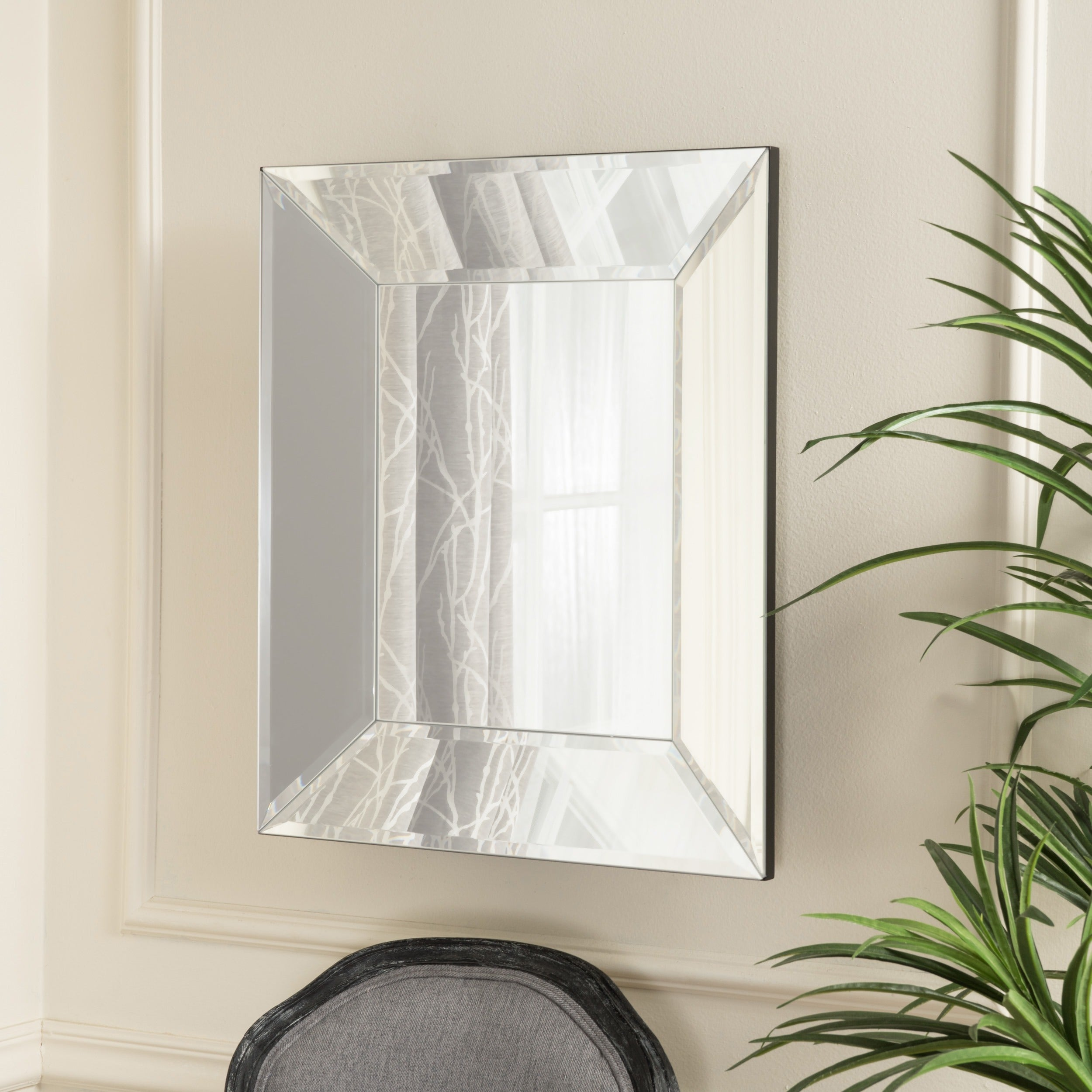 Opheli Square Wall Mirror by Christopher Knight Home (Sil...