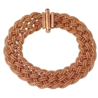 14k Italian Rose Gold Mesh Stretch Bracelet