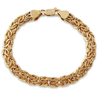14k Yellow Gold Ladies Byzantine Chain