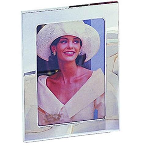 "Heim Concept Silver Plated Classic 4 x 6"" Plain Photo Frame"