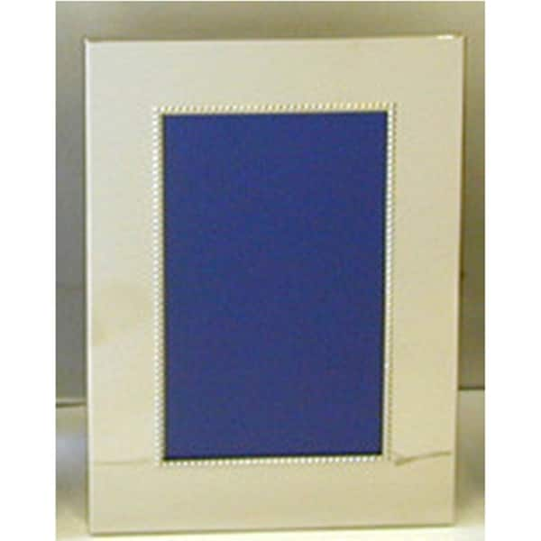 "Heim Concept Nickel Plated Bead Photo Frame 4 x 6"""