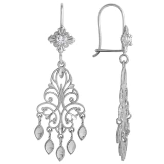 14k White Gold Women's Chandelier Earrings
