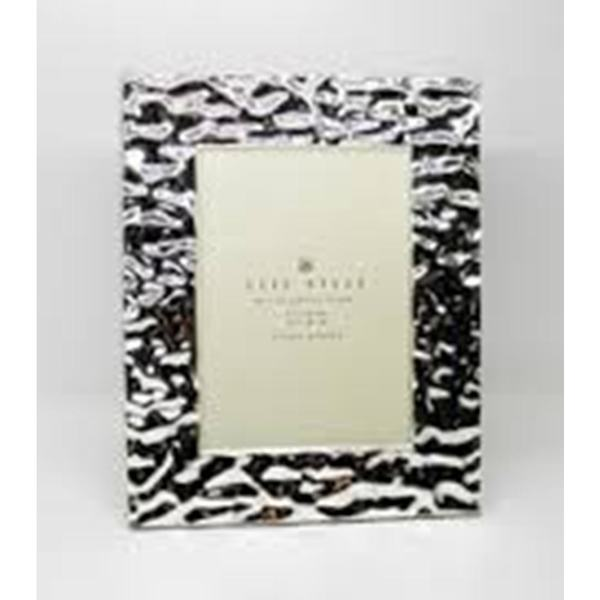 """Heim Concept Silver Plated Water Ripples 5x7"""" Photo Frame"""