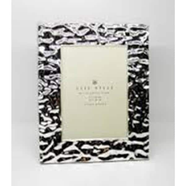 """Heim Concept Silver Plated Water Ripples 4x6"""" Photo Frame"""
