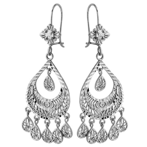 14k white gold chandelier earrings free shipping today 14k white gold chandelier earrings 14k white gold chandelier earrings aloadofball Gallery
