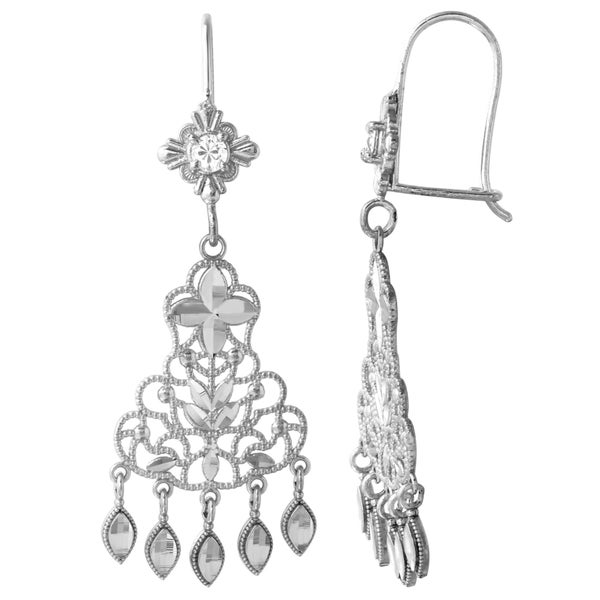 14k white gold chandelier earrings free shipping today 14k white gold chandelier earrings aloadofball Gallery