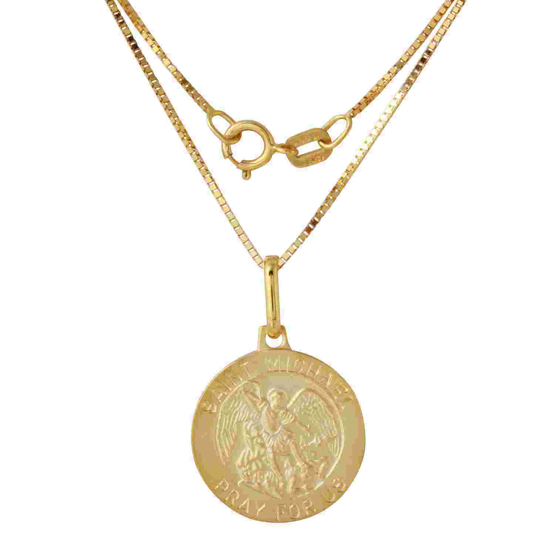 14k Yellow Gold St. Michael Medal (Yellow Gold), Women's ...