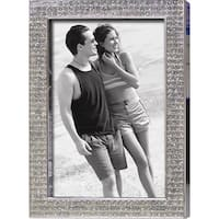 "Heim Concept Chrome Pl. 5x7"" Photo Frame, Bling Border"