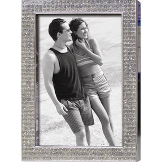 "Heim Concept Chrome Pl. 4x6"" Photo Frame, Bling Border"