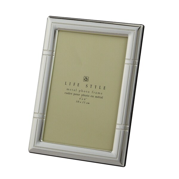 """Heim Concept SP 4x6"""" Photo Frame, Reed Border Lacquer"""