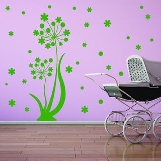 Style and Apply Dancing Flower Vinyl Wall Decal and Sticker Mural Art Home Decor