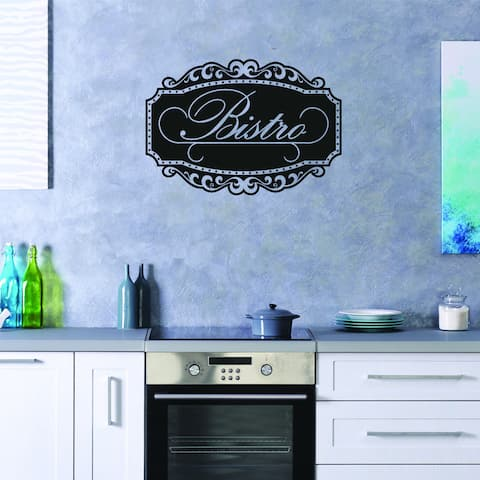 Style and Apply Bistro Vinyl Wall Decal and Sticker Mural Art Home Decor